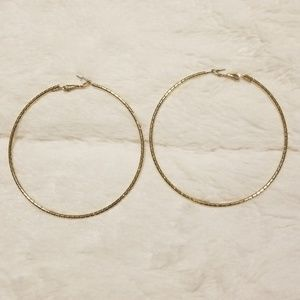Jewelry - Gold plated large hoop earrings